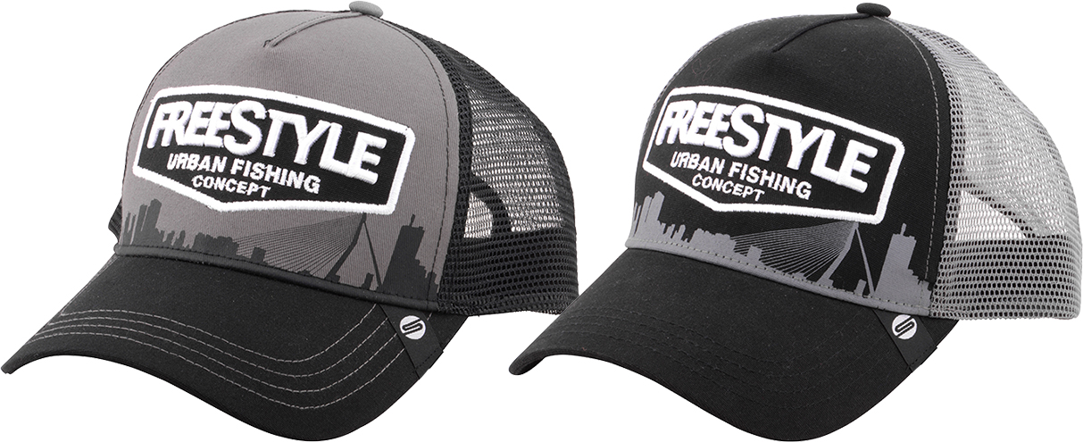 The SPRO Freestyle Trucker Cap in grey or black