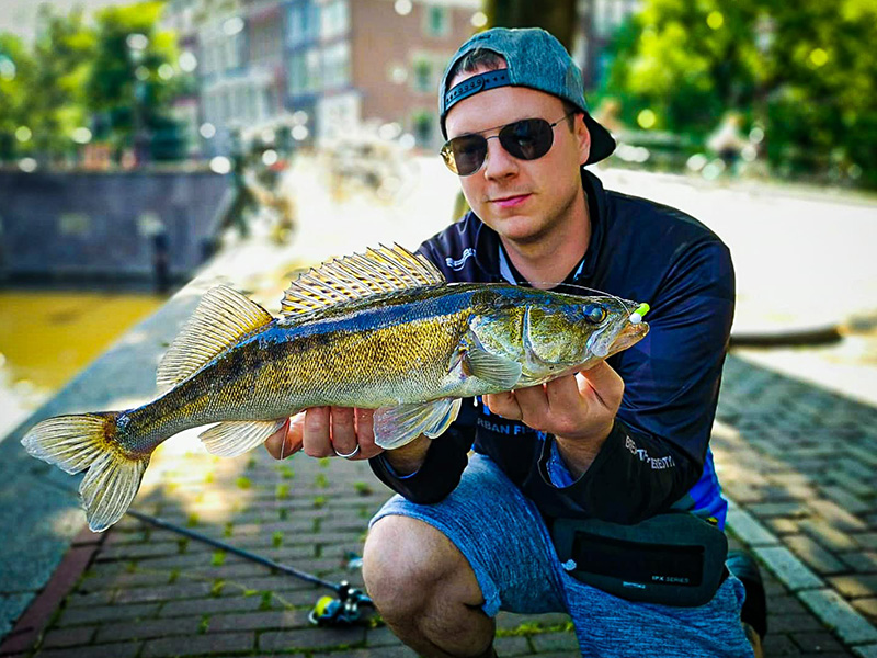 Street Fishing in the Heart of Amsterdam - 02